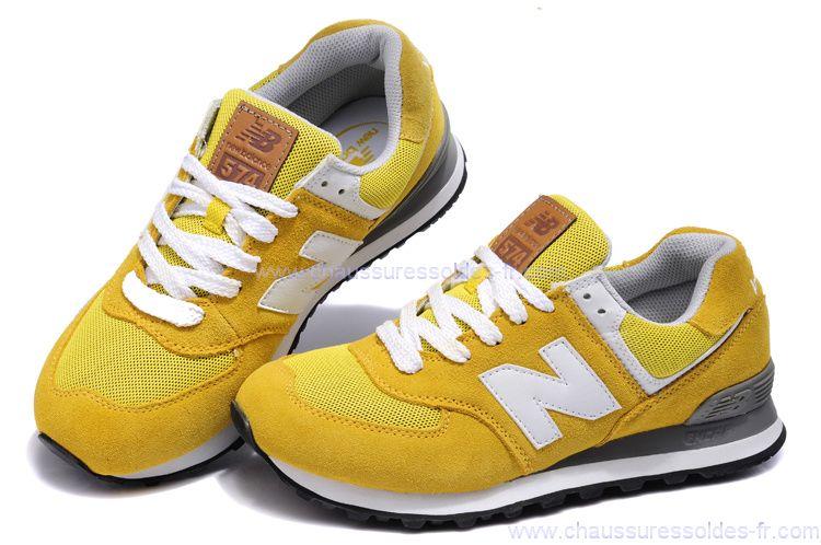 basket femme new balance moutarde