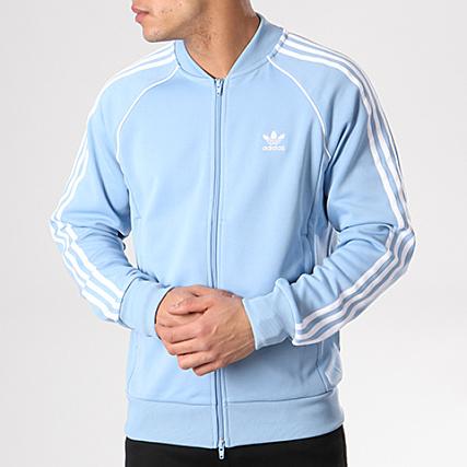 section spéciale nouvelles images de sans précédent sweat adidas bleu ciel